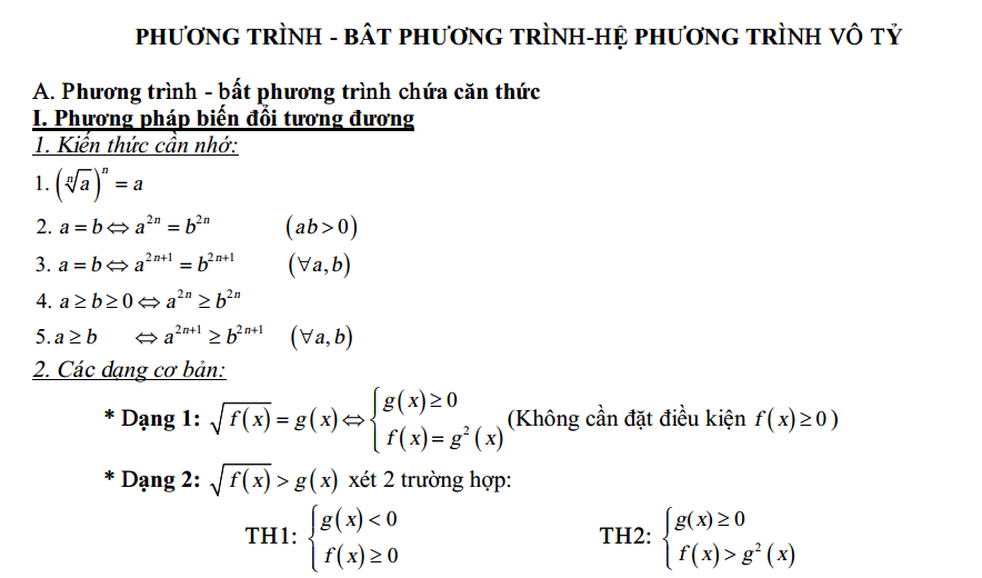 he phuong trinh