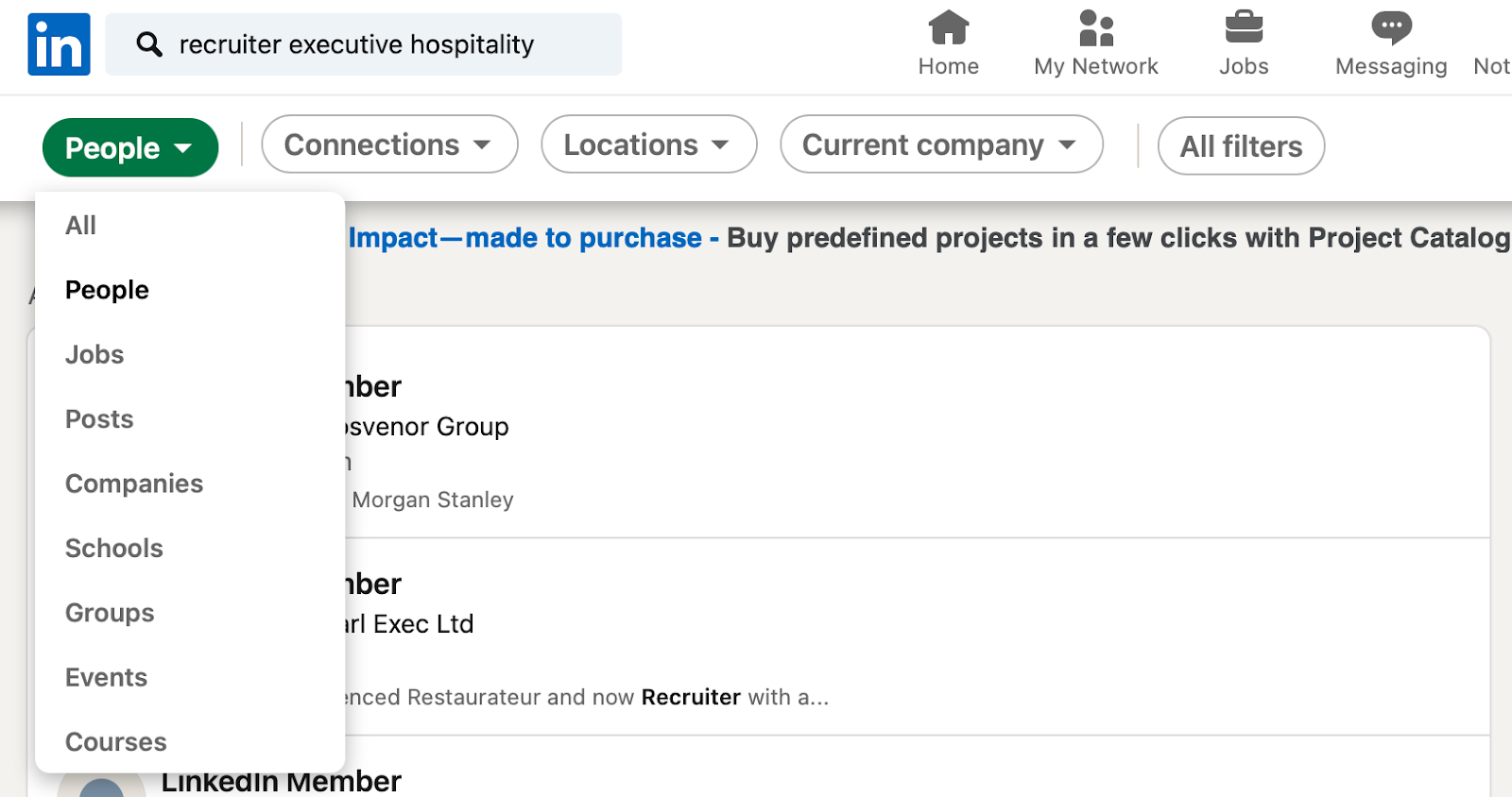 How to search for external recruiters on LinkedIn