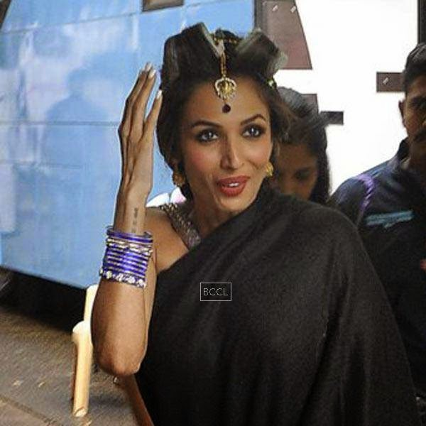 Malaika Arora Khan spotted at Mehboob Studios in Mumbai, on July 10, 2014.(Pic: Viral Bhayani)
