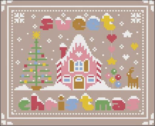 Sweet Christmascross stitch pattern
