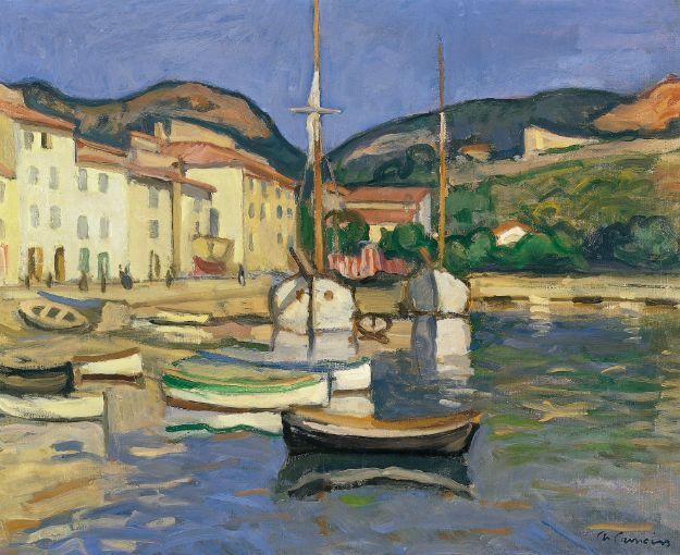 Charles Camoin - Harbour of Cassis with Two Tartanes