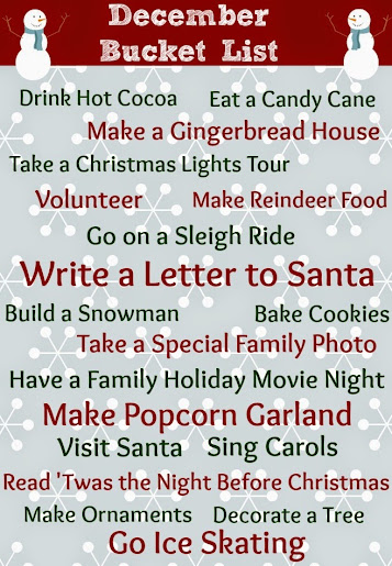 Christmas in July: Christmas Bucket List #CIJ13