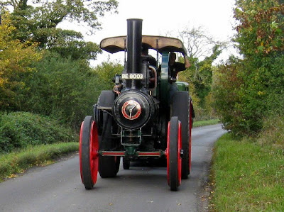 front of traction engine