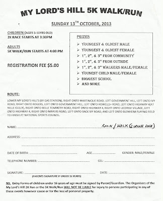 My Lord's Hill 5K 2013 Registration Form