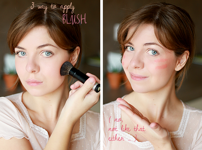 apply blush, makeup tutorial, makeup according to face shape, makeup technic, how to use blush