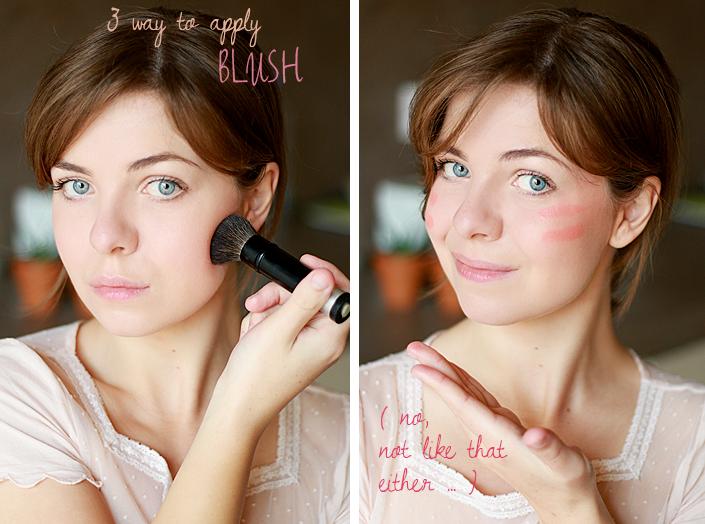 apply blush, makeup tutorial, makeup according to face shape, makeup technic, how to use blush