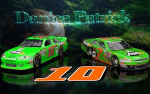 Danica Patrick NNS And Cup Go Daddy Cars wallpaper 16x10