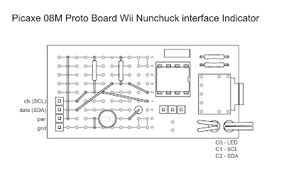 picaxe m wii nunchuck interface prototype build little squirts here is the circuit board design