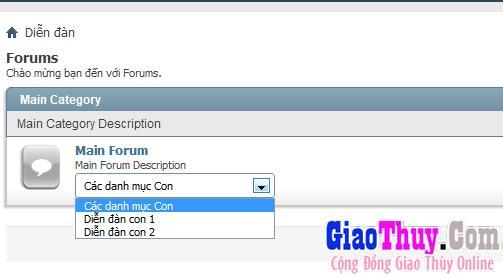 Tạo Sub-forum dropdown cho vbb4 - vbb3