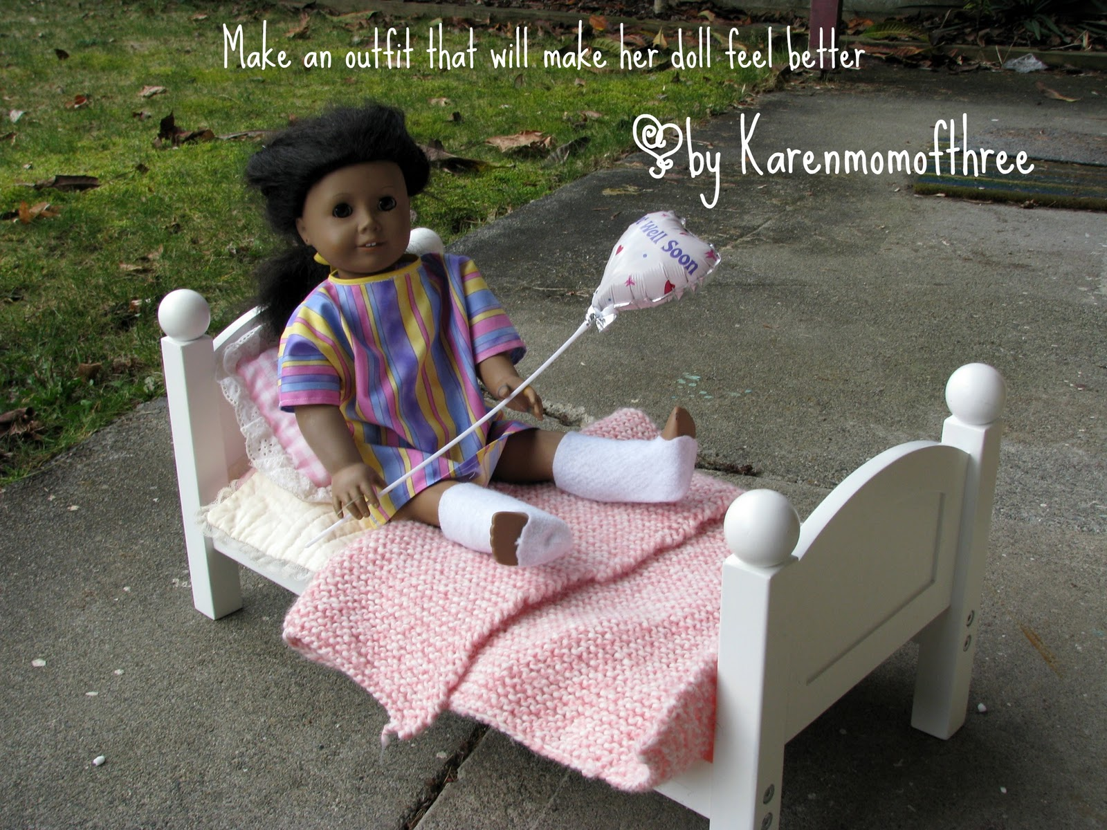 Karen Mom of Three\'s Craft Blog: Make a Hospital Gown and casts to ...