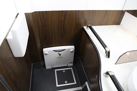 名鉄バス「名古屋新宿線」Sクラスシート車 2253 後部ワイドトイレ その3