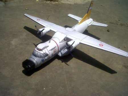 CN235 MPA Transport Plane Papercraft