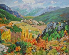 pintura Fórnols del Cadí