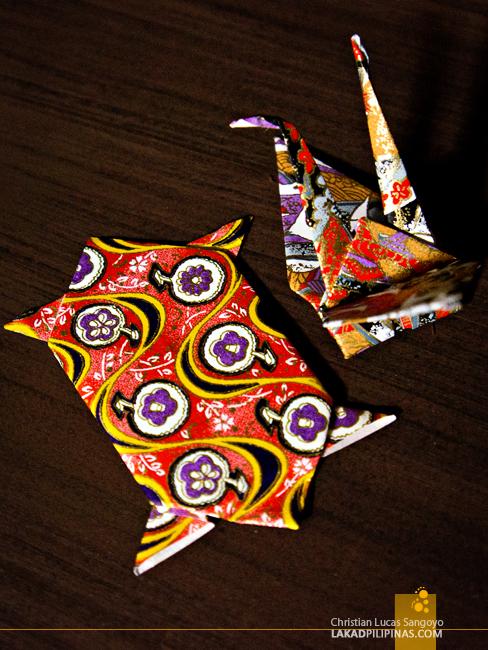 Colorful Origami from Hotel Okura in Tokyo