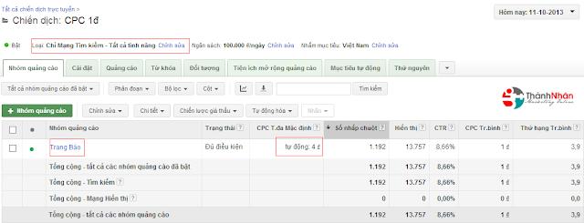 Thủ thuật chạy quảng cáo Google Adwords 1 đ/ 1 click - dangthanhnhan.info