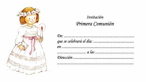 invitaciones de primera comunion para colorear