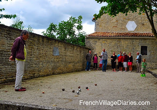 French Village Diaries life France petanque communal my expat family