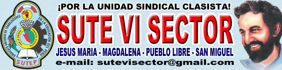 SUTE LIMA - VI SECTOR