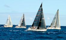 J/122 Teamwork leading PHRF - Lauderdale Key West Race