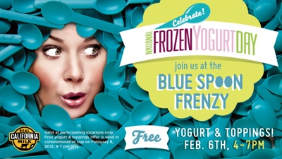 Free Yogurt on National Frozen Yogurt Day