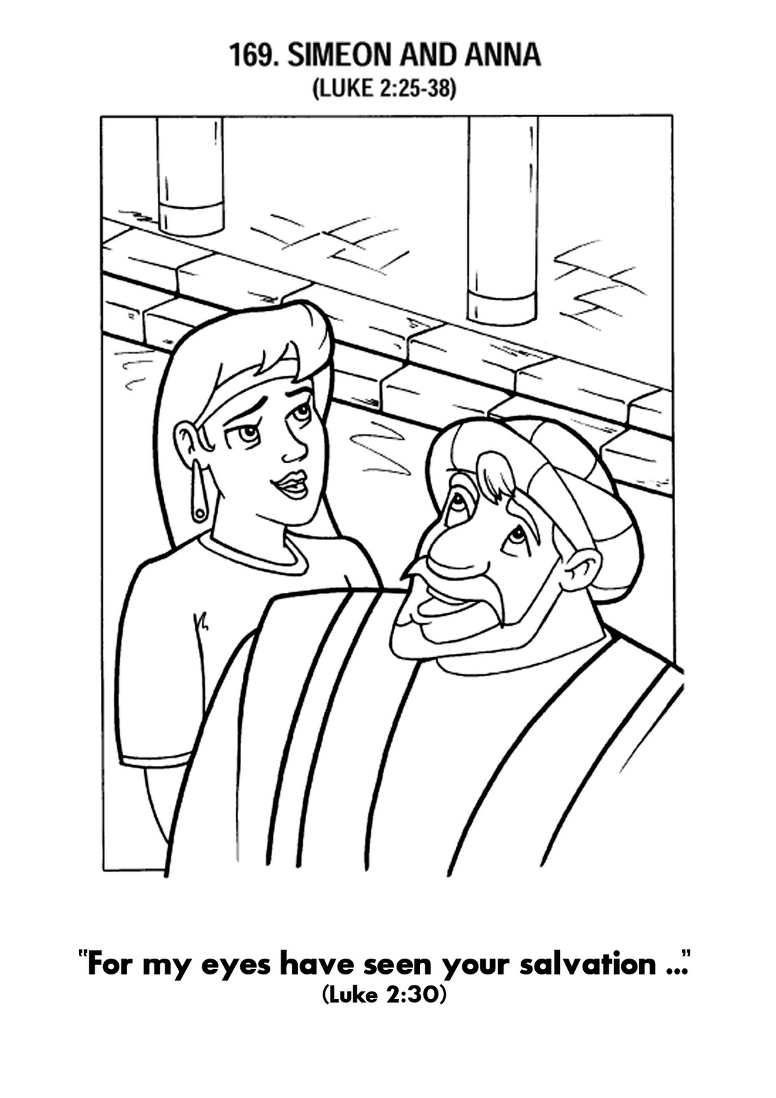 simeon and anna coloring pages - photo#15