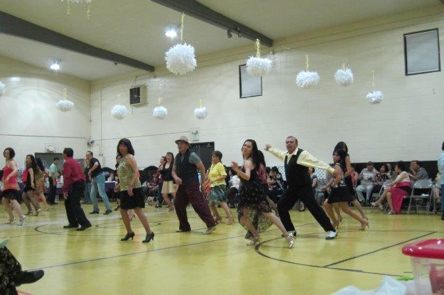Line Dancing at St. Cecilia's