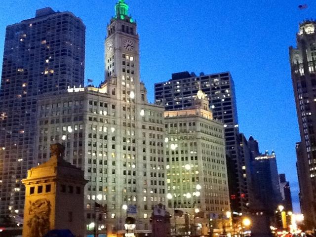 Chicago, desde la puerta del Hyatt. Foto hecha con el iPad