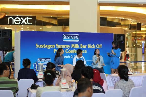 Gambar Talkshow Sustagen Milk Bar