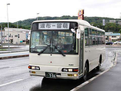 てんてつバス 留萌達布線 ・906 留萌元川町にて