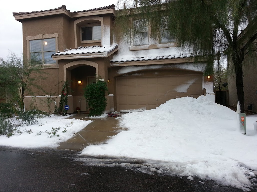 Snow Event at home Arizona