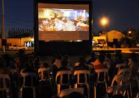 la segunda presentación en Cañuelas del programa Cine Móvil