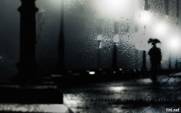 ảnh mưa chiều buồn bã