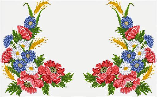 Tablecloths Flower 525_15 chart