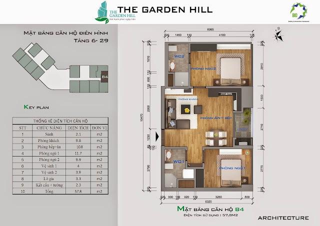 Căn B4 tầng 6 đến 29 garden hill - 99 trần bình
