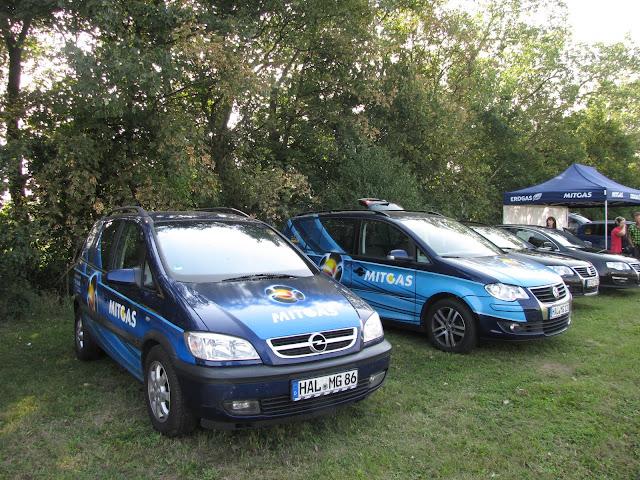 Pojazdy CNG na Erdgasfahrertag 2011