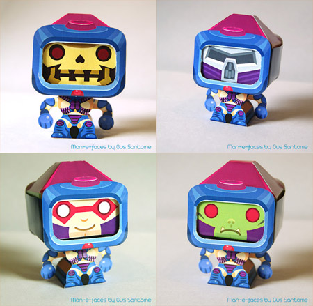 Man-E-Faces Papercraft