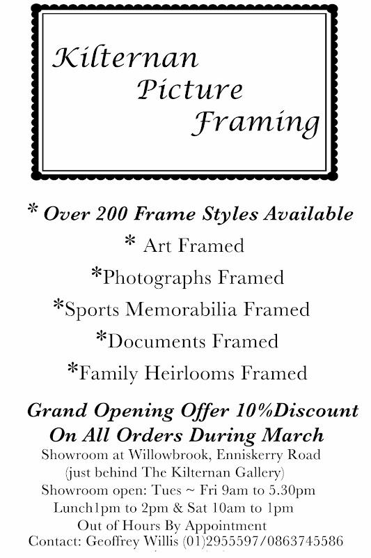 kilternan picture framing google - Discount Framing