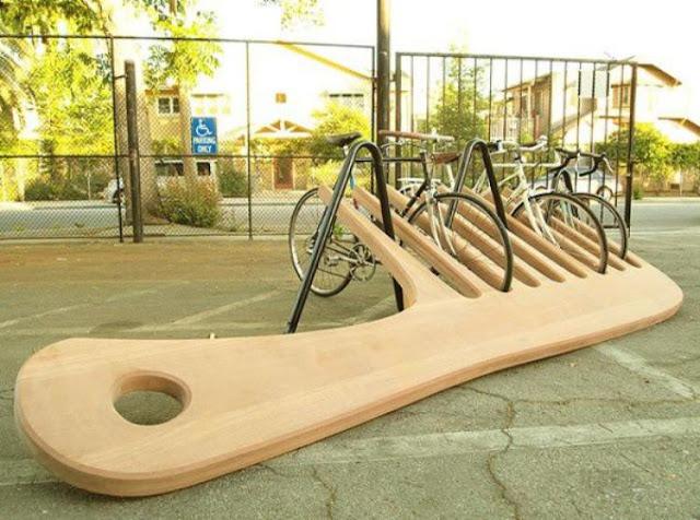 креативная велосипедная парковка