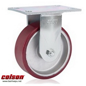 Bánh xe chịu lực 675kg Colson Mỹ càng cố định 8 inch | 6-8298-939