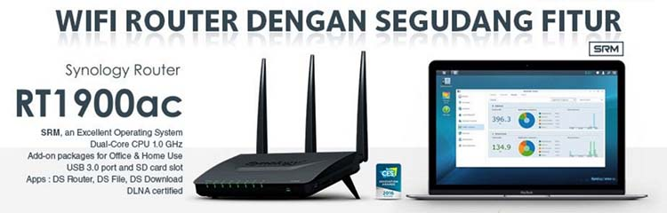 SYNOLOGY Router RT1900ac WiFi Router Segudang Fitur
