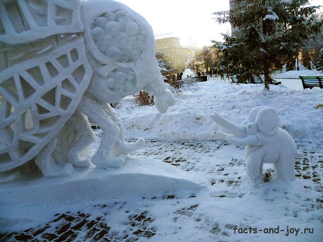 выставка снежных фигур в новосибирске