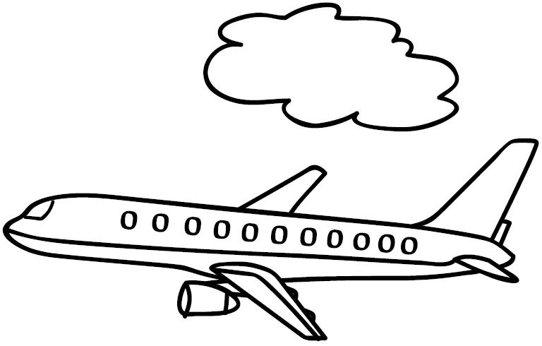 Pinto Dibujos: Avión Boing para colorear