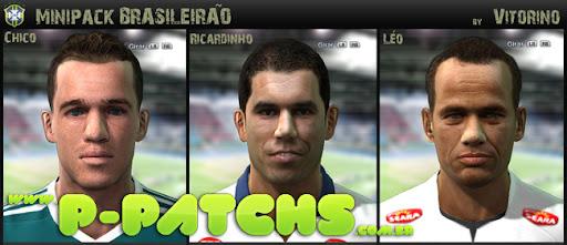 Chico, Ricardinho e Léo Faces para PES 2011 PES 2011 download P-Patchs