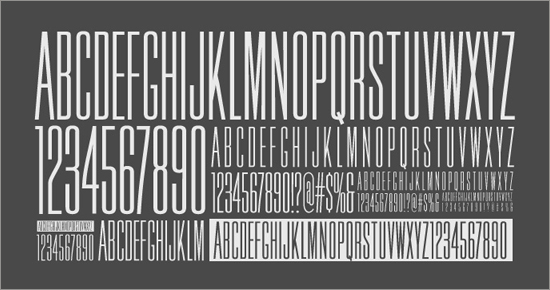 "Free Font ""Credit Block"" Sample"