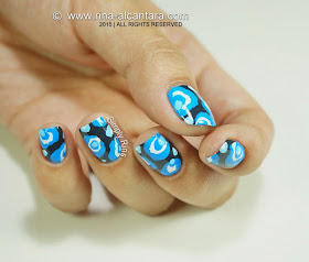 To Be Blue Nail Art Design