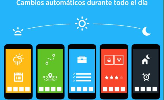Los 6 mejores launchers para personalizar android 2015 for Fondo de pantalla que cambia segun la hora del dia