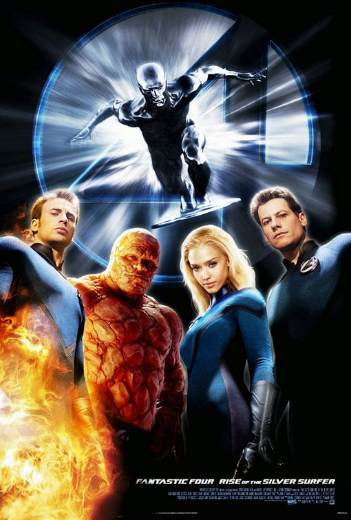 Poster Of Fantastic 4: Rise of the Silver Surfer (2007) Full Movie Hindi Dubbed Free Download Watch Online At Alldownloads4u.Com