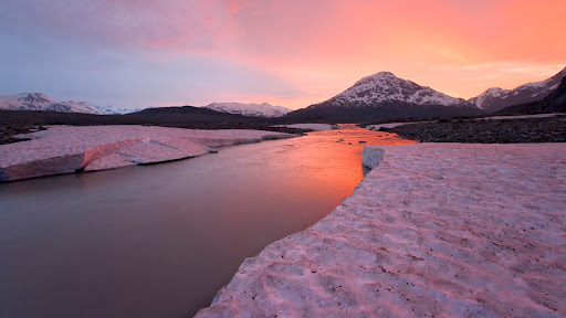 Alsek River at Sunset,  British Columbia, Canada.jpg