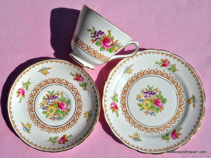 New Chelsea teacup, saucer, tea plate c.1936+