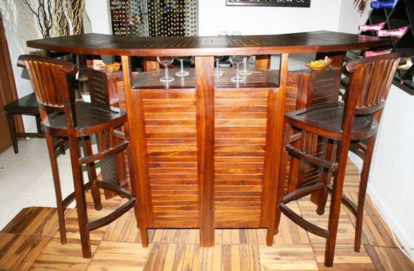 Indonesian Teakwood Bar Counter - $